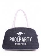 Джинсовая сумка-саквояж POOLPARTY Синий pool-16-jeans