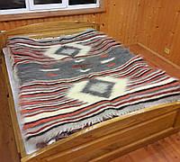 Гуцульское шерстяное натуральное одеяло (200×220см)