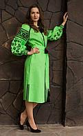 Платье льняное вышитое HELEN