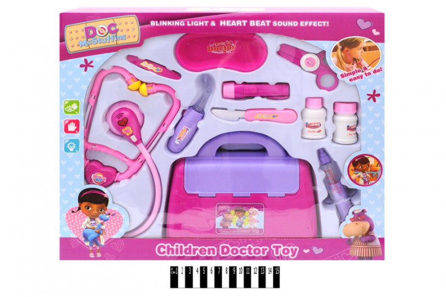 Игровой детский набор Доктор Плюшева 6889-186А, свет. звук.