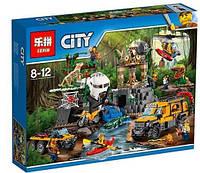 Конструктор Lepin 02061 База исследователей джунглей аналог Lego City 60161 , 870 дет.