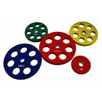 RCP19 Цветные диски олимпийские обрезиненные 1,25-25кг.