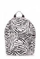 Рюкзак женский POOLPARTY Белый backpack-pu-zebra
