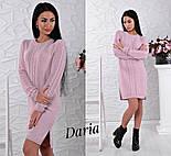 Женское стильное теплое прямое платье с разрезом (6 цветов), фото 2