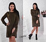 Женское стильное теплое прямое платье с разрезом (6 цветов), фото 5