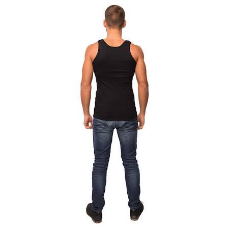 Майка мужская черного цвета 21-1103 (2XL), фото 2