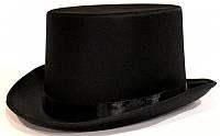 Шляпа Цилиндр атласная (черная)