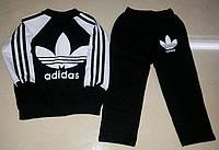 Спортивный костюм Адидас для девочки и мальчика плотный трикотаж на рост 90-120. Спортивные костюмы детские