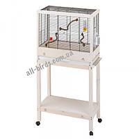Дерев'яна клітка з підставкою Ferplast Giulietta 6 для канарок і маленьких птахів (69 x 34.5 x 58см)