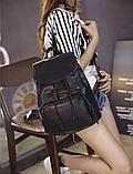 Рюкзак городской черный, фото 7