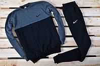 Спортивный костюм утепленный Nike черный с серым