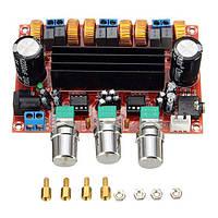 Усилитель плата сабвуфер TPA3116D2 2.1, 12-24 В, 4 А, 50x2 Вт + 100 Вт