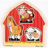 Формовый пазл Тварини з ферми Melіssa & Doug (MD2054)