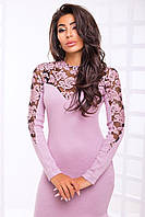 Платье из ангоры с набивкой на сетке с 42 по 46 размер 2 цвета