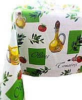 Ткань для скатерти рогожка Олива