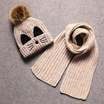 Шапка и шарф с усиками , фото 3