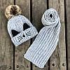 Шапка и шарф с усиками , фото 4