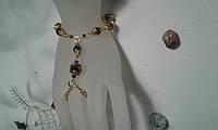 Слейв-браслет  из чешского хрусталя -подарок  для женщин