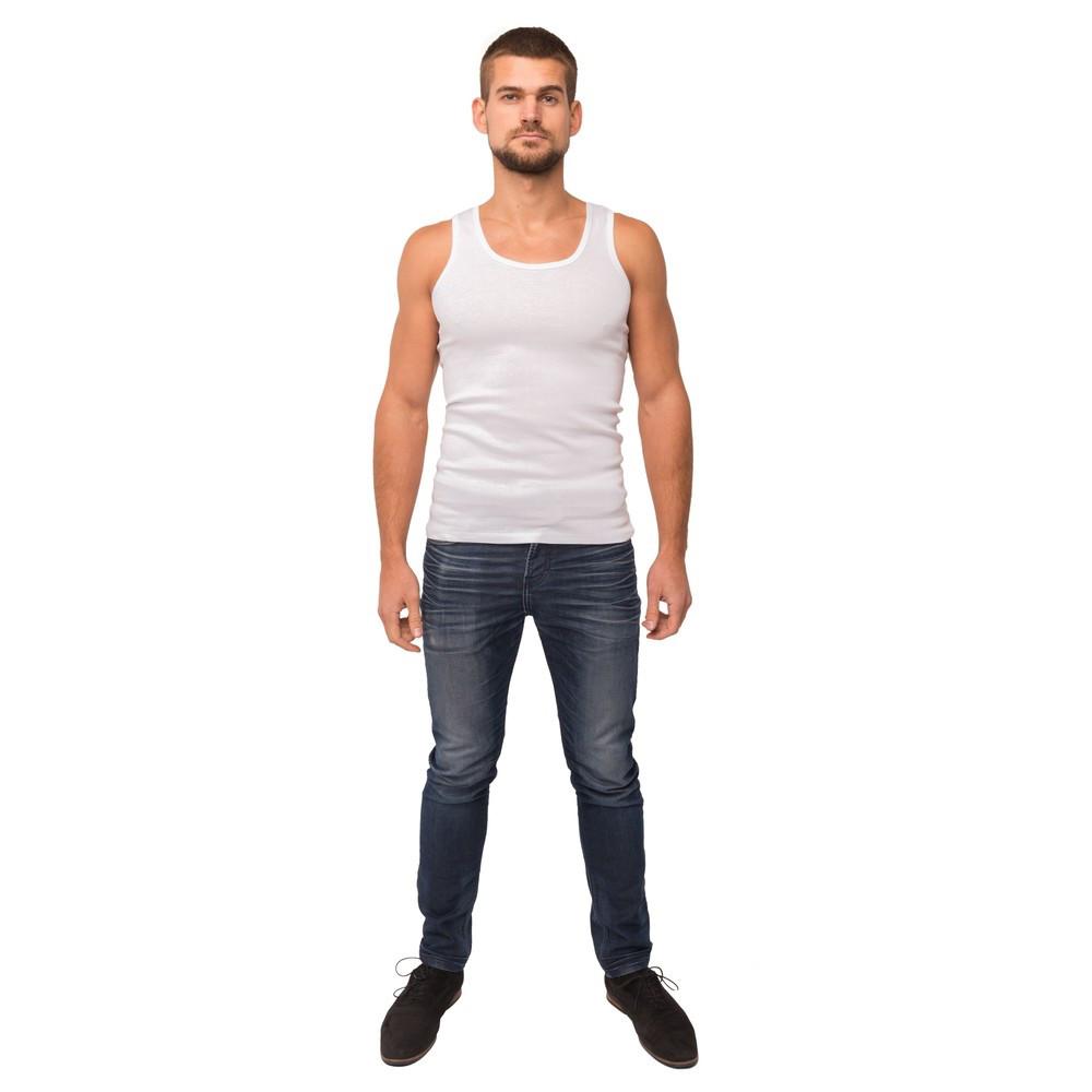 Майка мужская белого цвета 21-1103 (2XL)
