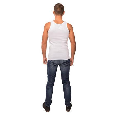 Майка мужская белого цвета 21-1103 (2XL), фото 2