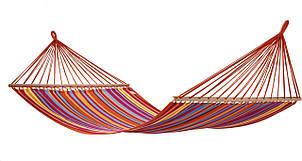 Гамак мексиканский тканевый 80*200 см с длинными планками, фото 2