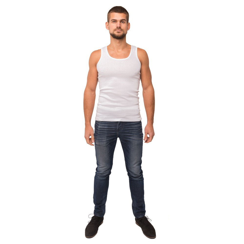 Майка мужская белого цвета 21-1103 (3XL)