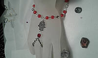 Слейв-браслет  из чешского хрусталя -подарок девушкам