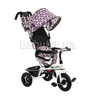 Трехколесный велосипед с ручкой Babyhit Kids tour Фиолетовый