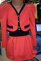Костюм для девочки пиджак и юбка
