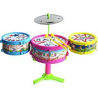 Барабанная установка (арт. M222-830B), пластик, Цветная коробка, 15.5x15.5x10.5см, JAMBO, 100974438