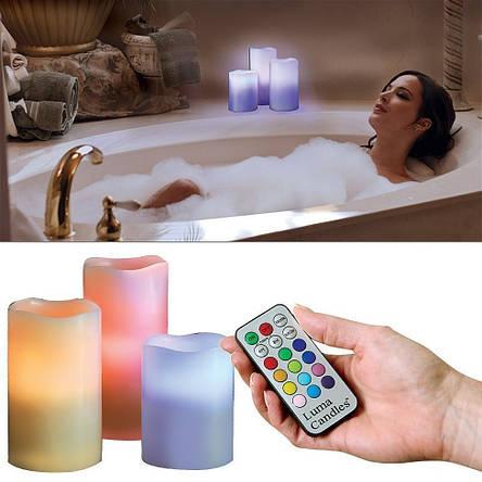 Светодиодные свечи Luma LED Scented candle свечи 3D с пультом, фото 2