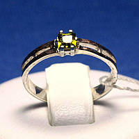 Серебряное кольцо с золотыми пластинами кс 1220ол з.нак