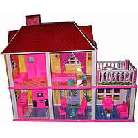 Домик для кукол (арт. 6980), пластик, Цветная коробка, 62.5x48.5x9.5см