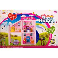 Кукольный дом 960 с куклами,мебелью,авто кор.53*7*35 ш.к./18/