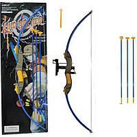 Лук, стрелы на присоске (арт. 9822-1), пластик, Картон, 70x5x32см