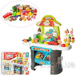 Детский Игровой Магазин 008-911 касса, сканер - звук, свет, продукты, деньги, 61 предмет 66х68х25 см
