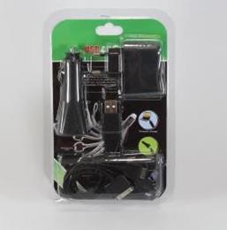 Комплект Адаптер MOBI CHARGER 10in1 C12 (Блистер, черный), фото 2