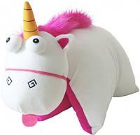 Мягкая детская игрушка-подушечка Единорого для девочек 40х40 см