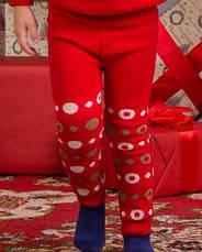 """Детские теплые гамаши (лосины, леггинсы) под памперс """"Веселые попки - Литл Обезьянка"""" девочки - цвет красный,, фото 2"""