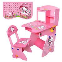 Детская парта M 0324  Hello Kitty со стульчиком, регулируемая