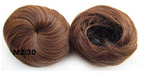 Накладная гулька, накладной пучок из волос, шиньон из синтетических волос, цвет №М2/30