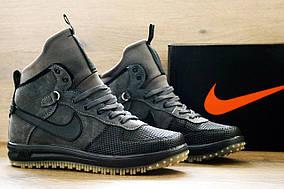 Кроссовки мужские демисезонные Nike Lunar Force 1 High Grey-Black реплика