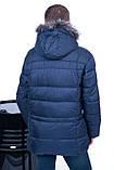 Чоловіча зимова куртка, синього кольору., фото 4