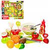 Продукты XJ329S-2  на липуч(овощи,фрукты)9шт,чашки,тарелки
