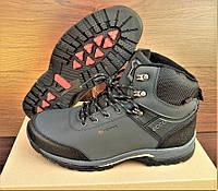 Мужские серые зимние ботинки кроссовки Ecco Biom