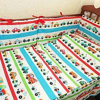 Защита в кроватку + комплект постельного белья