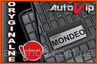 Резиновые коврики FORD MONDEO MK3 00-  с лого