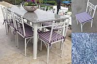 Мебель садовая для улицы комплект Серый гранит на 6 мест