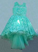 Платье нарядное шлейф  р.6-9 лет