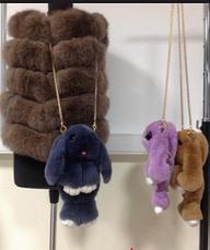 Сумка,рюкзак Пушистый Кролик из натурального меха, фото 3